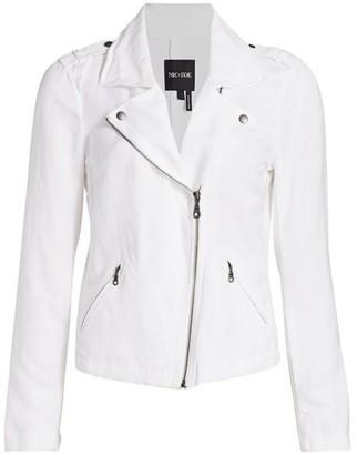 Nic+Zoe Petite Stretch-Linen Biker Jacket