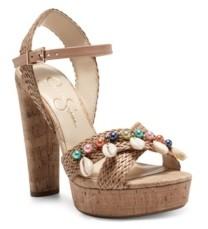 Jessica Simpson Women's Ivriele Embellished Platform Sandals Women's Shoes