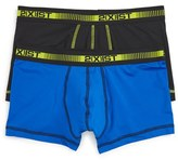 2xist Men's 2-Pack Performance Micro Stretch No-Show Trunks