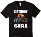 Kids Birthday Girl Monster Truck Vintage Orange Bug Bday T-Shirt 8