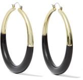 Kenneth Jay Lane Enameled Gold-Tone Earrings