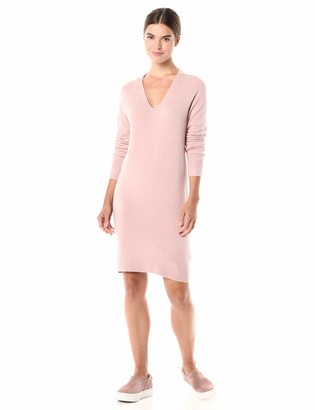 Daily Ritual Amazon Brand Women's Mid-Gauge Stretch V-Neck Sweater Dress