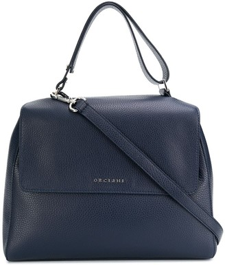 Orciani Leather Top-Handle Bag