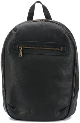 Officine Creative Weathered Leather Backpack