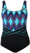 Poolproof Aztec Chevron Scoop Back One Piece