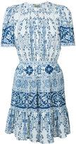Sea floral print dress