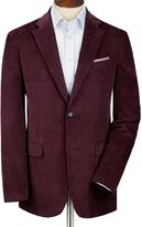 Charles Tyrwhitt Grape Slim Fit Cord Unstructured Cotton Jacket Size 38