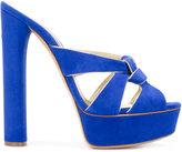 Casadei gathered strap platform sandals - women - Leather/Suede - 35