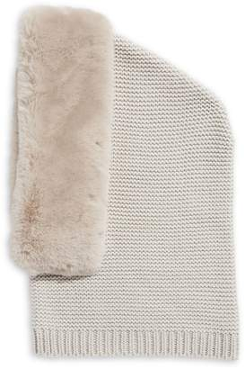 Echo Oversized Faux Fur-Trim Balaclava