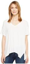 Michael Stars Jersey Lycra Short Sleeve V-Neck Top Women's Clothing
