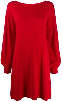 Twin-Set balloon sleeve knitted dress