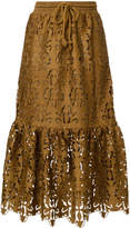 See by Chloe ruffled lace skirt