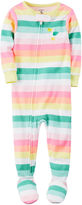 Carter's Long Sleeve One Piece Footie Pajama-Toddler Girls