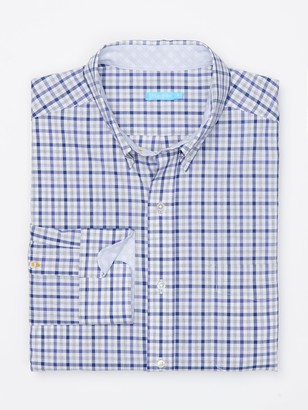 J.Mclaughlin Carnegie Classic Fit Shirt in Mini Check