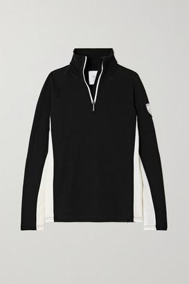 WE NORWEGIANS Voss Merino Wool-blend Pique Top - Black