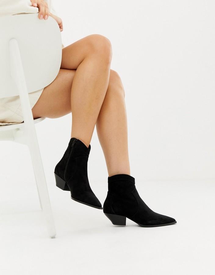 Asos Design DESIGN Annie western ankle boots