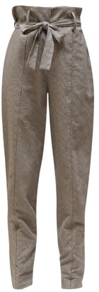 Isabel Marant Emilia Paperbag-waist Trousers - Womens - Grey