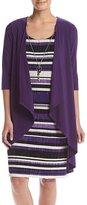 R & M Richards R&M Richards - 1577 Scoop Neck Striped Dress with Jacket