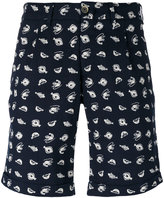 Lardini fish print bermuda shorts - men - Cotton/Polyester - 48