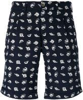 Lardini fish print bermuda shorts - men - Cotton/Polyester - 50