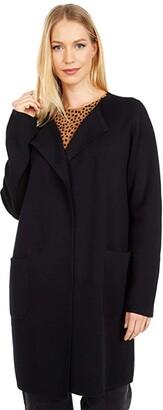 J.Crew Juliette Collarless Sweater-Blazer (Black) Women's Sweater
