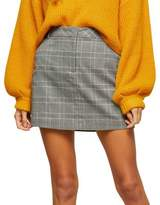 Miss Selfridge Plaid Mini Skirt