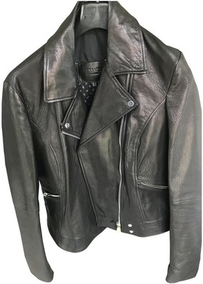 Trussardi Black Leather Leather Jacket for Women