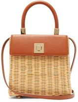 Sparrows Weave - The Classic Wicker And Leather Top-handle Bag - Womens - Tan