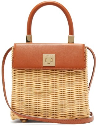 Sparrows Weave - The Classic Wicker And Leather Top-handle Bag - Tan