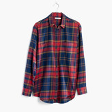 Madewell Flannel Oversized Ex-Boyfriend Shirt in Lewis Plaid