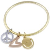 Peace Love World Peace Love And Happiness Bangle