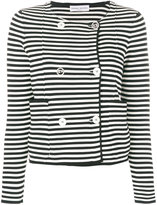 Sonia Rykiel striped fitted jacket - women - Cotton/Polyester - XS