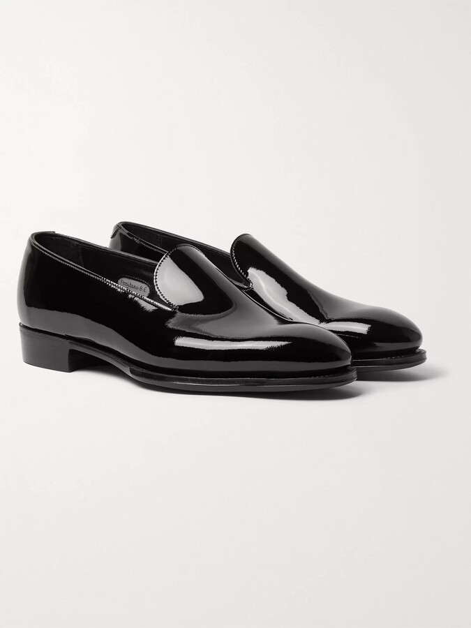 Mens Patent Leather Slippers | Shop the