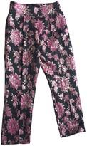 For Love & Lemons Black Silk Trousers for Women