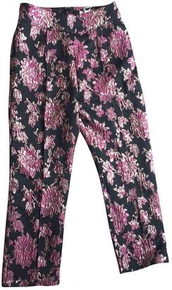 For Love & Lemons Black Silk Trousers