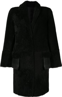Yves Salomon Meteo Shearling Mid-Length Coat