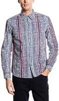 Desigual Men's Regular Fit Long Sleeve Leisure Shirt - Blue -