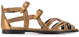 See by Chloe Metallic Strappy Sandals