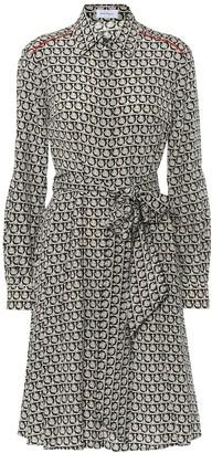 Salvatore Ferragamo Gancini printed silk dress