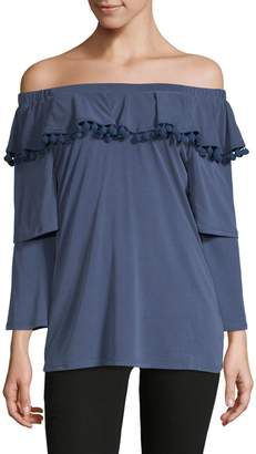 Love Scarlett Tiered-Sleeve Off-The-Shoulder Top