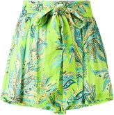Etro tie waist print shorts - women - Viscose - 38
