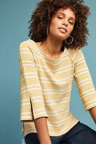 Anthropologie Striped Flared-Sleeve Top