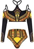Susenstone Bandage Bikini Monokini Push Up Padded Bra Swimwear Super Woman Swimsuit Set (XL, )