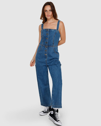 RVCA Overworked Denim Overalls