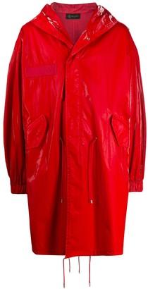 Mr & Mrs Italy high-shine raincoat