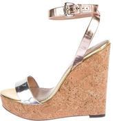 Jean-Michel Cazabat Metallic Wedge Sandals