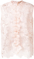 No.21 embroidered tank top - women - Polyester - 46