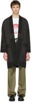 Visvim Black Pinstripe Ruunpe Coat