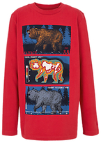 Fat Face Boys' Bear Vision T-Shirt, Red