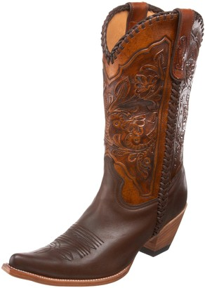 Stetson Women's 6102 Hand Tooling Boot